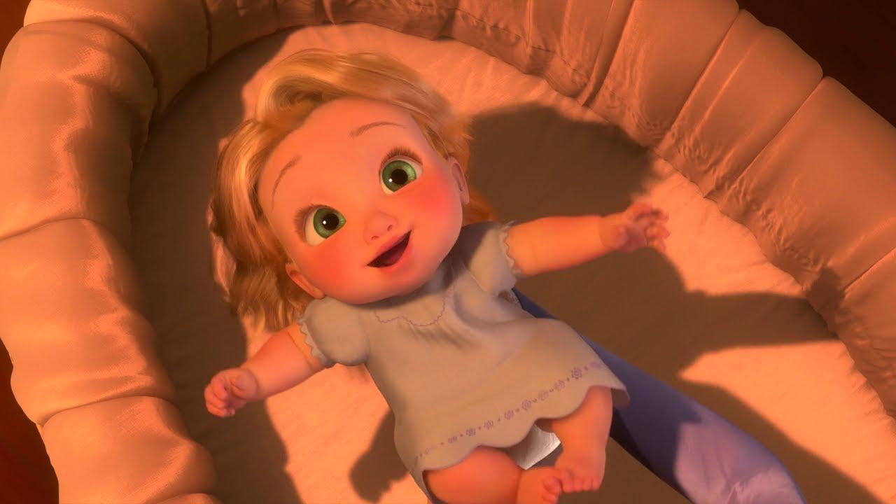 Tangled Rapunzel Born And Stolen Scene Youtube