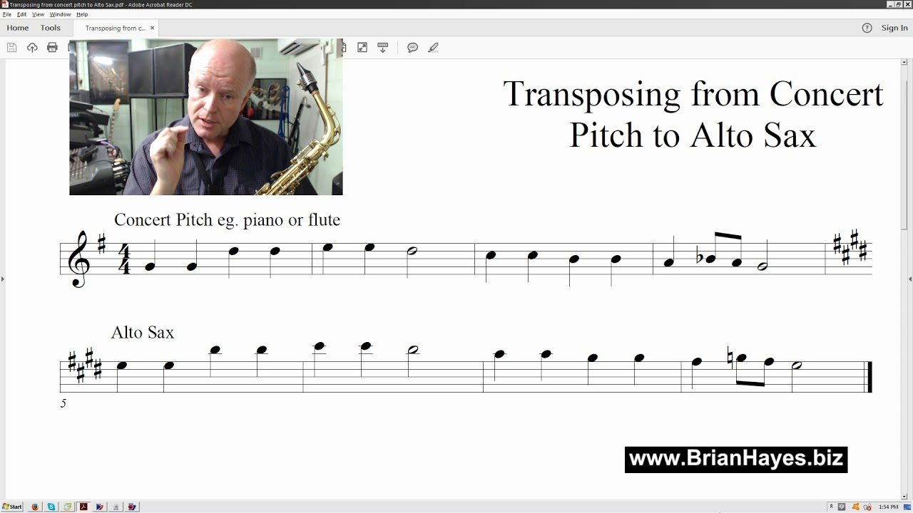 Transposing Made Easy for the Alto Saxophone