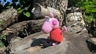 Свинка Пеппа. Игрушка. Амигуруми. Связанная крючком.(Peppa Pig. Toy. Amigurumi)