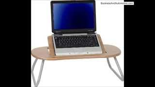 Flash Furniture Nan-jn-2779-gg Angle Adjustable Laptop Computer Table With Dark Natural Top