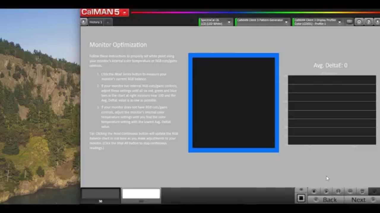 Calibrating Mac Computer Monitor with CalMAN RGB