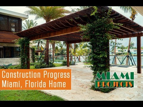 Miami Home Under Construction - Ipe Siding, Dock, & More