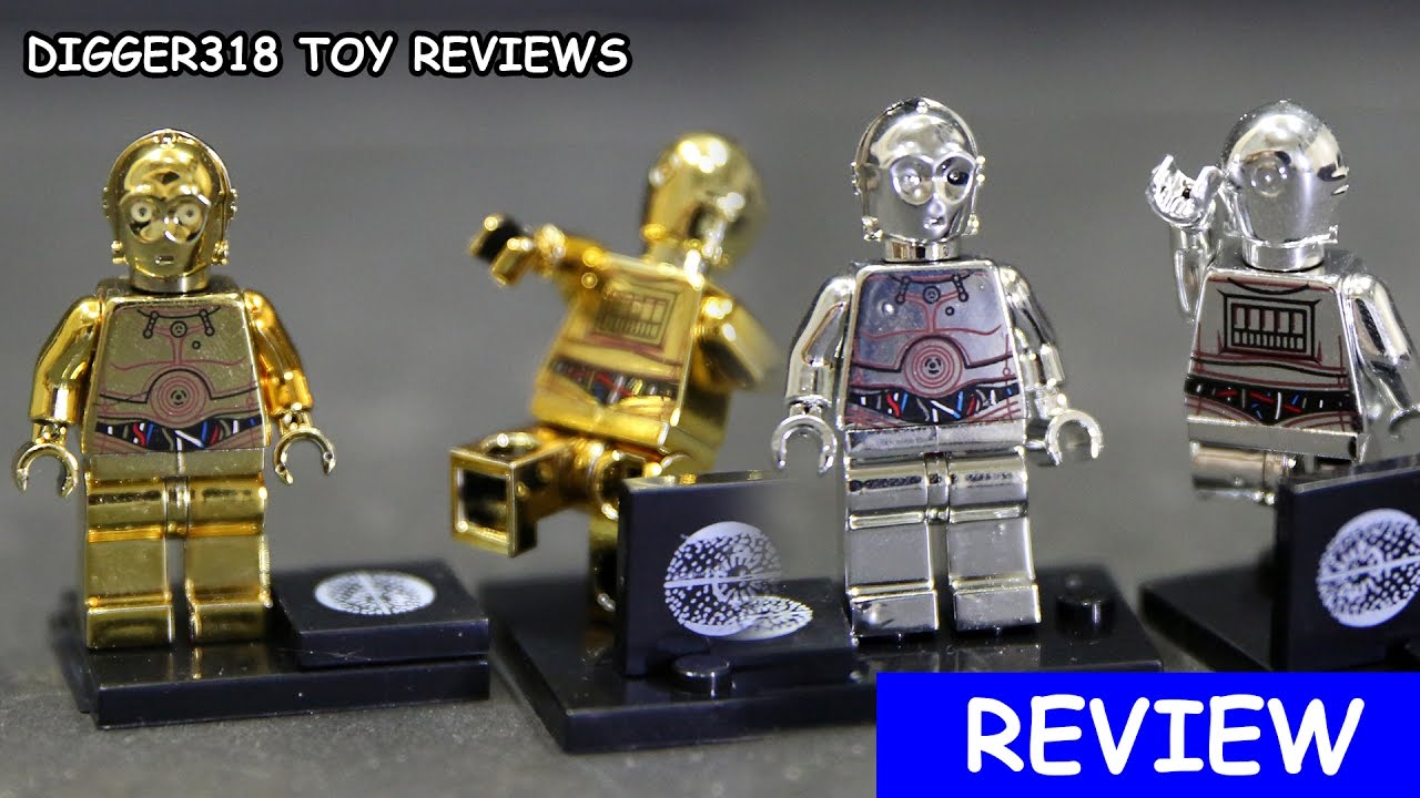 Lego Star Wars Pogo Bootleg PG 637 638 Chrome C 3po E 3po Minifigure     Lego Star Wars Pogo Bootleg PG 637 638 Chrome C 3po E 3po Minifigure Toy  Review