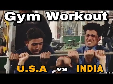 Gym workout in USA vs india | Round2hell | R2H