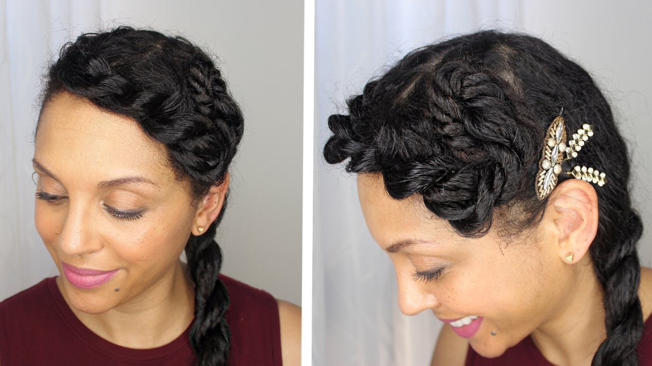 Date Night Hairstyle for Fine Curly Hair Protective Style ...