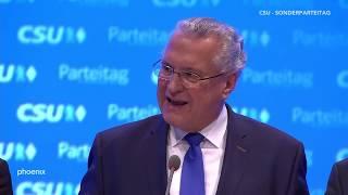 CSU-Parteitag: Markus Söder zum neuen CSU-Vorsitzenden gewählt am 19.01.19