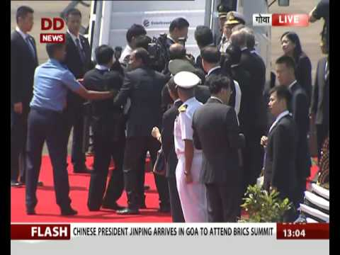 Chinese president Xi Jinping arrives in Goa to attend BRICS Summit