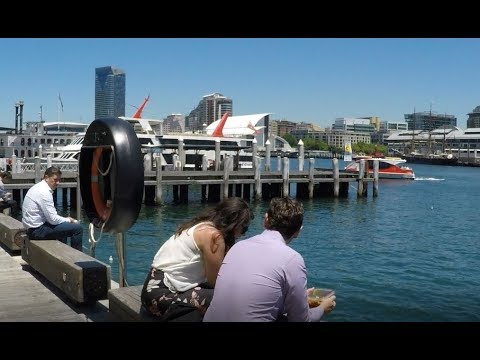 2018 - SYDNEY - Wynyard Walk to Barangaroo, Darling Harbour. Australia.- using FeiyuTech Steadycam