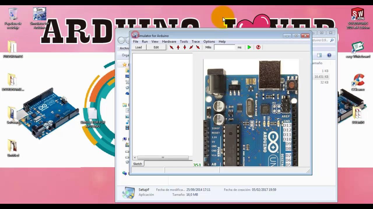 Descargar e instalar simulator for arduino d full
