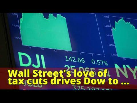Wall Street's love of tax cuts drives Dow to 25,000 mark