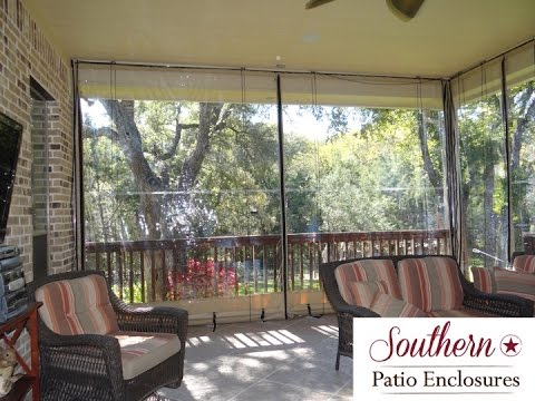 Merveilleux How 2 Install Southern Patio Enclosures Clear Vinyl Patio Enclosures Drop  Curtain System