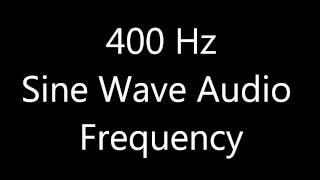 400 Hz Sine Wave Sound Frequency Tone