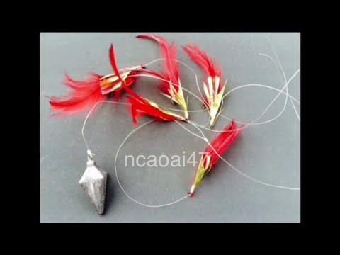 Making a Scad Feather Rig - DIY - Fishing Tips - Cách Buộc Lưỡi Câu Cá Nục