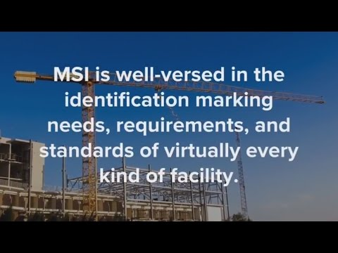 Mechanical Contractor identification products and labeling services from MSI save in-place costs