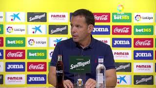 Rueda de prensa Villarreal CF vs FC Barcelona.