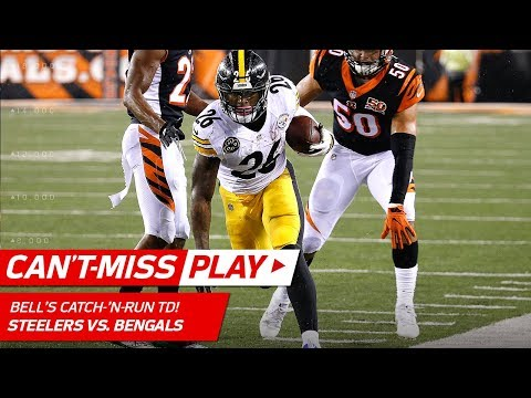 Le'Veon Bell's Ridiculous Tight Rope TD vs. Cincinnati! | Can't-Miss Play | NFL Wk 13 Highlights