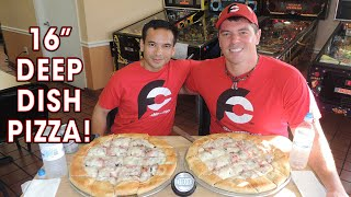 "Jj's Kitchen Sink 16"" Deep Dish Pizza Eating Challenge 