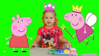 Лепим Свинку Пеппу! Свинка Пеппа из пластилина теста для лепки Peppa Pig Sweet Emily