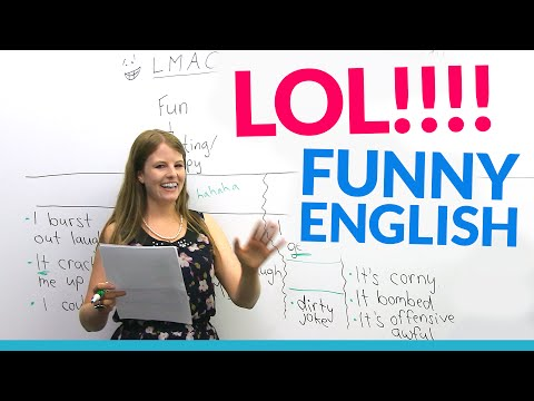 LOL!! Learn English vocabulary about JOKES: hilarious, dirty joke, LMAO…