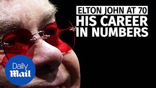 Elton John turned 70 in March:  Here's his career in numbers - Daily Mail