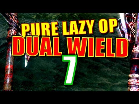 Skyrim Pure Lazy OP Dual Wield Walkthrough Part 7: Slaughterfish-Ready Starter Build (lol) thumbnail