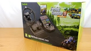 Saitek Farming Simulator Gold Wheel Unboxing