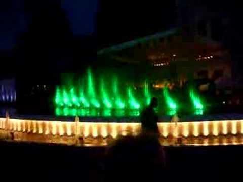 musical waterfalls pitesti-romania