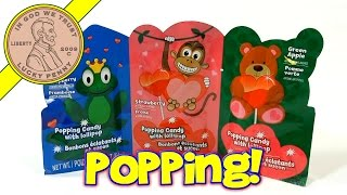 Popping Candy With Lollipop - Green Apple, Strawberry & Blue Raspberry, 2014 Valentine's Day Series