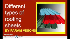 Different types of roofing sheets/Types of roofing materials