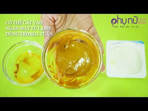 Da trắng sáng mịn màng chỉ bằng bột nghệ, sữa chua, mật ong | Mẹo làm đẹp Hóng Showbiz