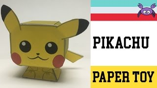 How to Make a Pikachu Paper Toy ( Papercraft ) (free template) by Becks Junkie