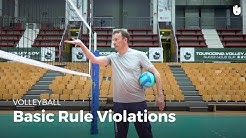 Basic rule violations | Volleyball