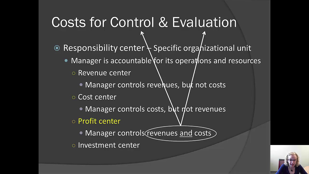 cost centres profit centres investment centres essay Cost centers are responsibility centers in which employees control costs but do not control revenues, profit or investment levels every processing group in service operations (such as the cleaning plant in a dry-cleaning business, front-desk operations in a hotel, or the check-clearing department in a bank), virtually, is a candidate to be.