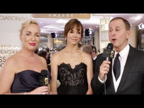 Frances O'Connor - HFPA Red Carpet Interview - Golden Globes 2015