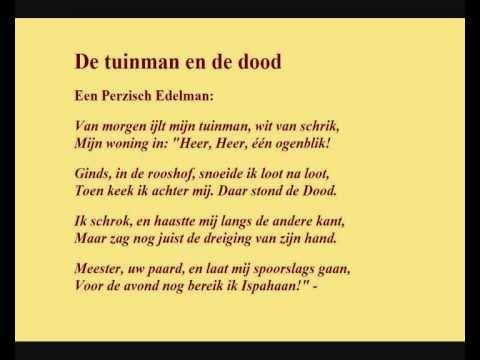 P N Van Eyck Gedicht De Tuinman En De Dood