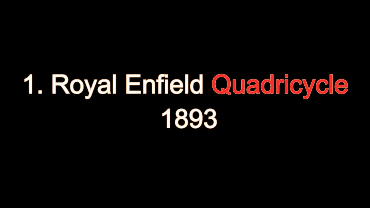 History of Royal Enfield 1893 to 2016