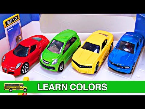 Thumbnail: Best Kids Learning Colors Cars Trucks for Toddlers #1 Fun Hot Wheels Tomica Cars Parking Garage