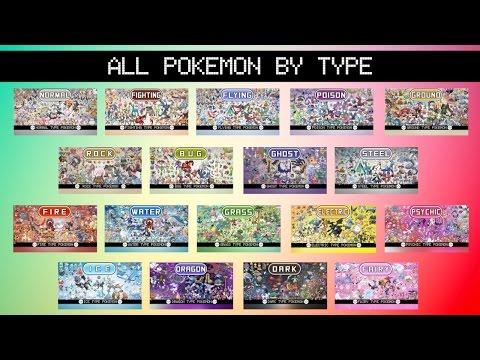 All Pokémon By Type