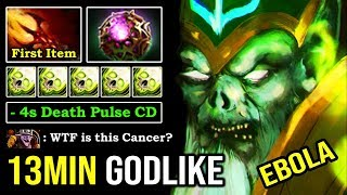 CANCER MID IS BACK First Item Dagon 13Min Godlike -4s Death Pulse with Octarine Necrophos DotA 2