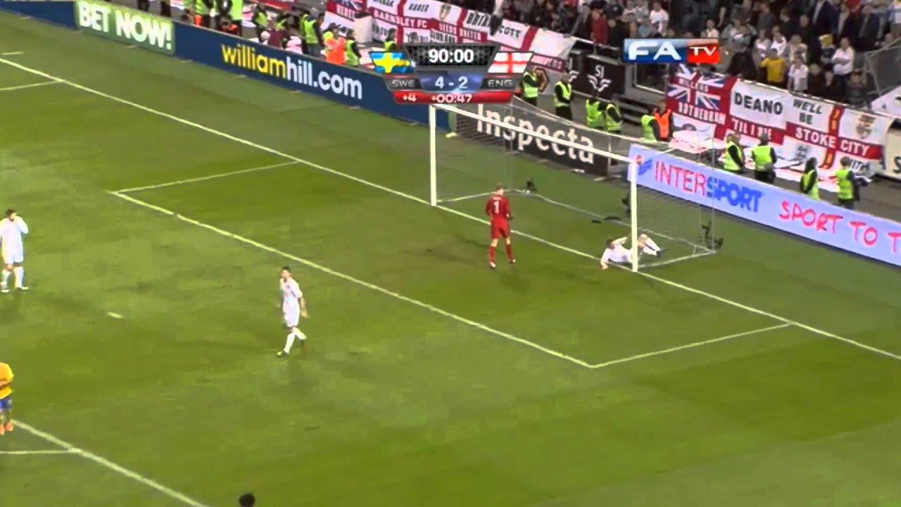 Zlatan Ibrahimovic Goal vs England 4-2 Amazing 30 yard ...