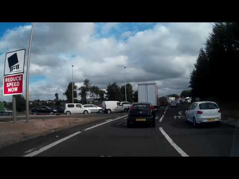 Drive From Auchterarder Through Aberuthven To Perth Perthshire Scotland
