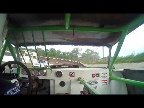 6.6.15---Peoria Speedway----Heat Race---incar Camera
