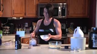 Stephanie.fitness Recipe - Chocolate Almond Protein Corn Bread Cake - Gluten Free