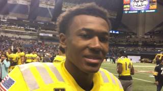 Devonta Smith says Alabama's QB commit was in his ear at the Army Bowl