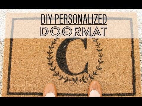 DIY Personalized Doormat / Tapete Personalizado