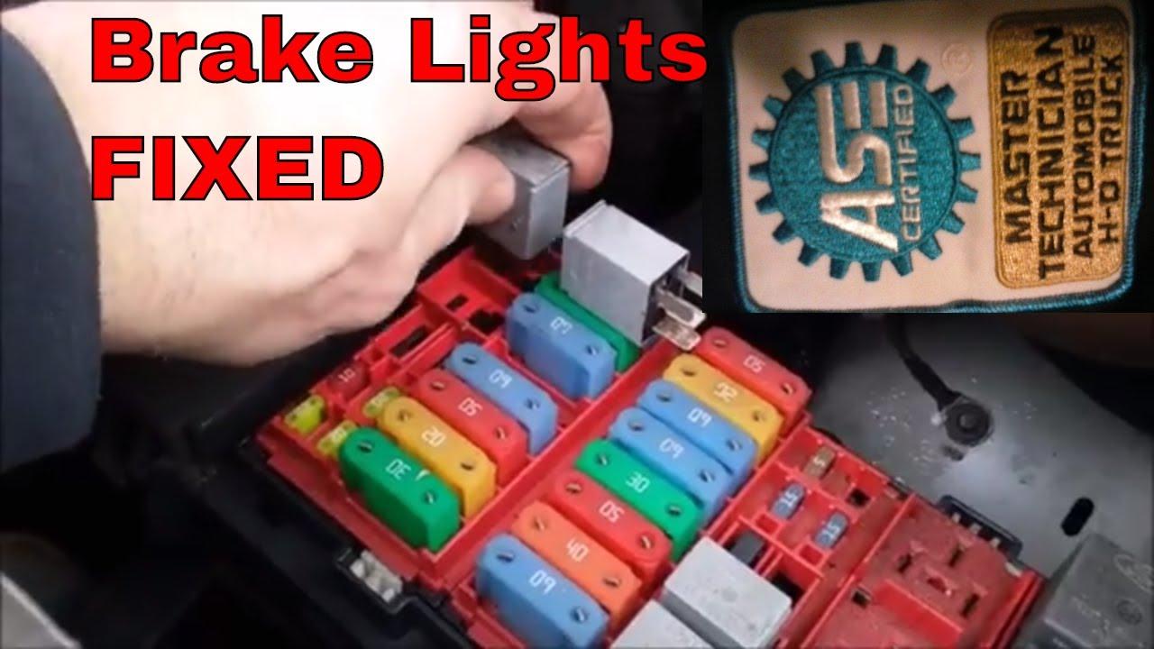 How To Diagnose Brake Lights And Fix 2007 Ford E250 Youtube 2004 E350 Fuse Box