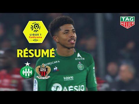 AS Saint-Etienne - OGC Nice ( 4-1 ) - Résumé - (ASSE - OGCN) / 2019-20