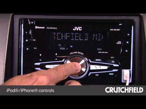 jvc kw r910bt display and controls demo crutchfield video JVC KW- R500