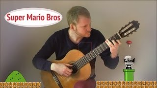Super Mario Bros Theme - Overworld (Nintendo New Acoustic Classical Fingerstyle Guitar Cover)