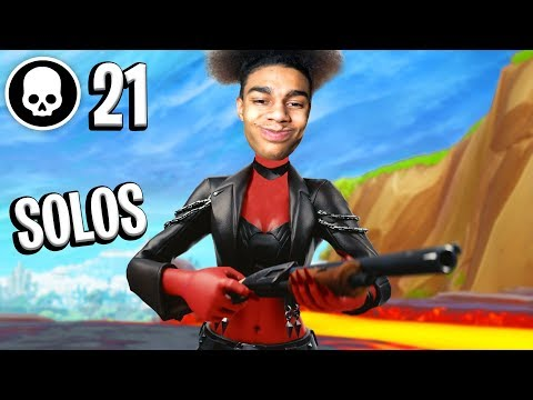 Insane 21 Kill Solo Win (facecam)